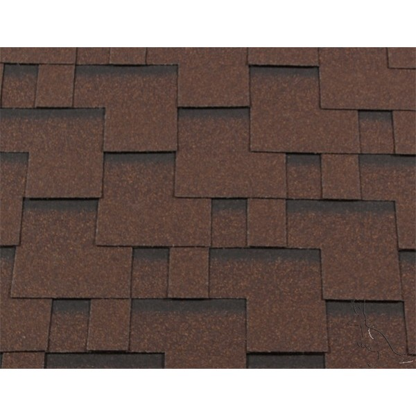 Черепица гибкая RoofShield КЛАССИК Модерн коричневый с оттенением