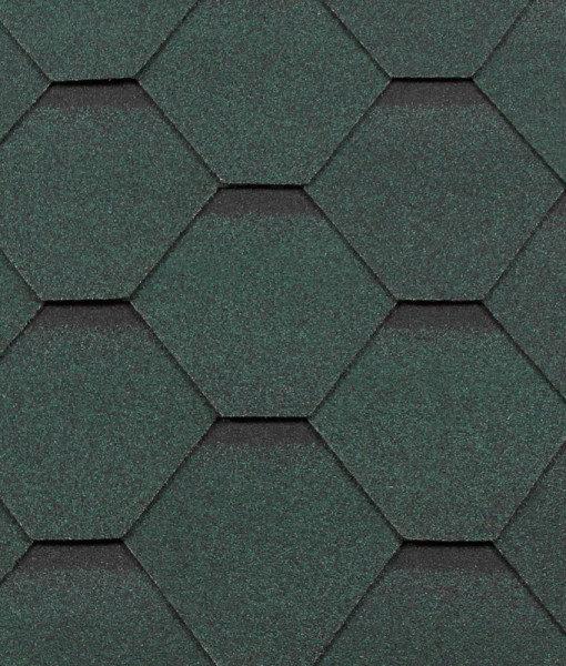 Черепица гибкая RoofShield КЛАССИК Стандарт зеленый с оттенением