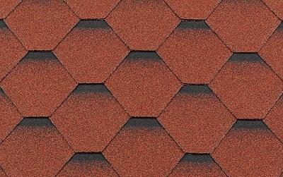 Черепица гибкая RoofShield КЛАССИК Стандарт коричнево-красный