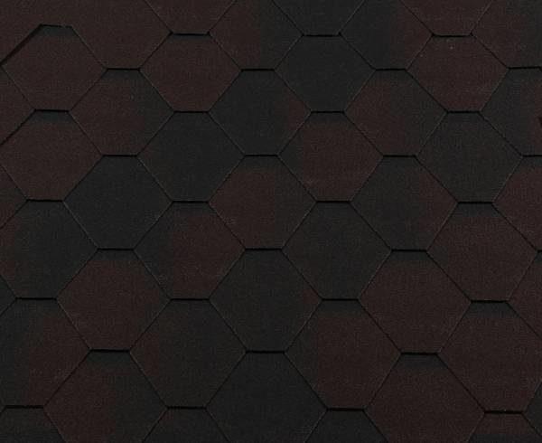 Черепица гибкая RoofShield КЛАССИК Стандарт коричневый антик