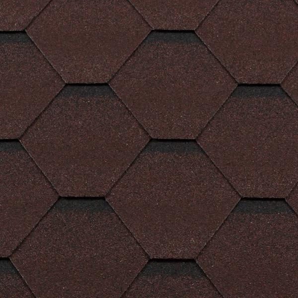 Черепица гибкая RoofShield КЛАССИК Стандарт коричневый с оттенением