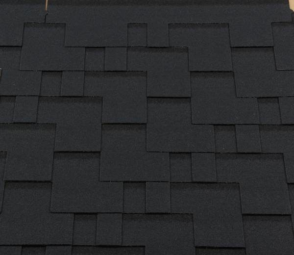 Черепица гибкая RoofShield ПРЕМИУМ Модерн бархатно-черный