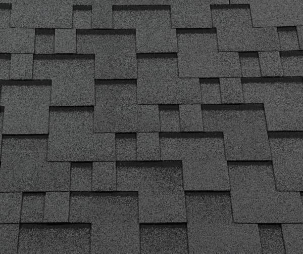 Черепица гибкая RoofShield ПРЕМИУМ Модерн серый с оттенением