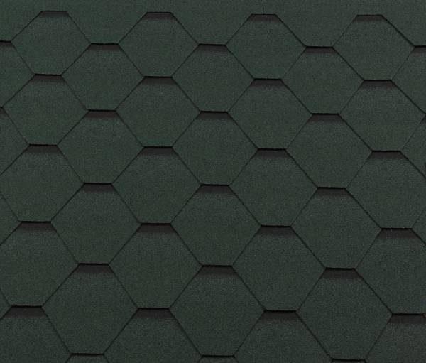 Черепица гибкая RoofShield ПРЕМИУМ Стандарт зеленый с оттенением