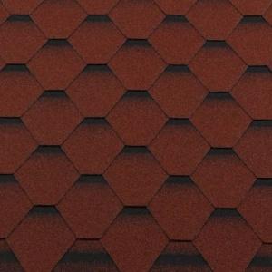 Черепица гибкая RoofShield ПРЕМИУМ Стандарт кирпично-красный с оттенением