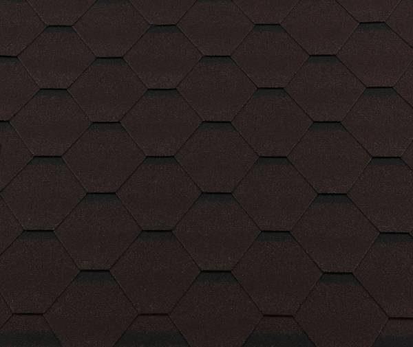 Черепица гибкая RoofShield ПРЕМИУМ Стандарт коричневый с оттенением