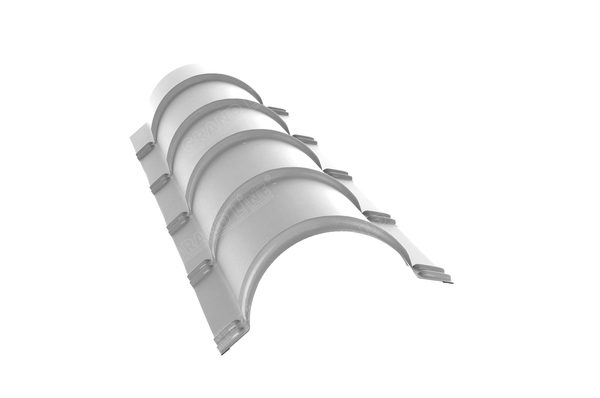 Планка конька полукруглого 0,45 PE с пленкой RAL 9003