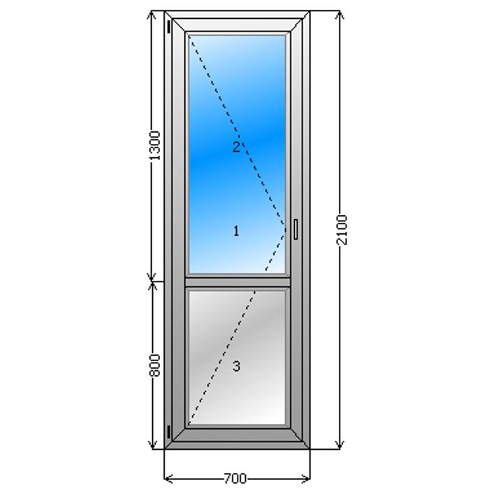 толщина входной двери со стеклопакетом